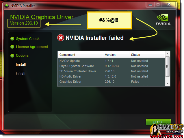 Nvidia Drivers Wont Install! - Nvidia Installer failed - Nvidia Graphics Driver