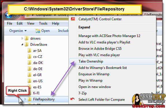 Changing File Repository permissions / ownership